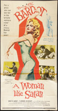 "Movie Posters:Bad Girl, A Woman Like Satan (Lopert, 1959). Three Sheet (41"" X 81""). BadGirl.. ..."
