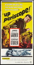"Movie Posters:War, Up Periscope (Warner Brothers, 1959). Three Sheet (41"" X 81"").War.. ..."