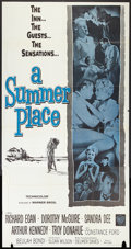 """Movie Posters:Romance, A Summer Place (Warner Brothers, R-1963). Three Sheet (41"""" X 81"""").Romance.. ..."""