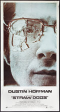 "Movie Posters:Crime, Straw Dogs (ABC, 1972). Three Sheet (41"" X 81""). Crime.. ..."