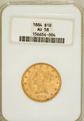 Liberty Eagles: , 1884 $10 AU58 NGC. NGC Census: (131/154). PCGS Population (76/125).Mintage: 76,800. Numismedia Wsl. Price for problem free...