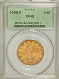Liberty Eagles: , 1900-S $10 XF45 PCGS. PCGS Population (57/256). NGC Census:(7/154). Mintage: 81,000. Numismedia Wsl. Price for problem fre...