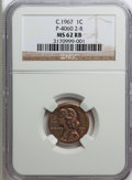 """C.1967 General Motors """"Cent"""" Pollock-4060, MS62 Red and Brown NGC. Control Code 2-R....(PCGS# 62401)"""