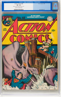 Action Comics #68 (DC, 1944) CGC VF- 7.5 Cream to off-white pages