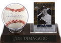 Autographs:Baseballs, Joe DiMaggio Signed Baseball Display....