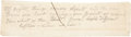 """Autographs:Authors, Walt Whitman Autograph Manuscript Unsigned in pencil. One page, 7.75"""" x 2"""", n.d., n.p. The perfector of free verse and autho..."""