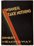 Books:First Editions, Ernest Hemingway. Winner Take Nothing. New York: CharlesScribner's Sons, 1933.. First edition, with Scribner'...