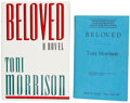 Books:First Editions, Toni Morrison. Two Books, including: Beloved. New York:Knopf, 1987. First edition. Signed on title page. Octavo... (Total:2 Items)