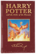 Books:First Editions, J. K. Rowling. Harry Potter and the Order of the Phoenix.[London]: Bloomsbury, [2003]. First British deluxe edi...