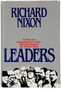 Books:Signed Editions, Richard Nixon. Leaders. New York: Warner Books, 1982.. Firstedition, first printing. Inscribed by Nixon to Casp...