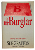 "Books:First Editions, Sue Grafton. ""B"" is for Burglar. New York: Holt, Rinehartand Winston [1985]. . First edition. Signed by Grafton..."