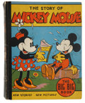 Books:Children's Books, Walt Disney. The Story of Mickey Mouse and the Smugglers. Racine: Whitman Publishing, 1935. The Big Big Book. 316 pa...