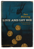 Books:First Editions, Ian Fleming. Live and Let Die. New York: Macmillan Company,1955. First American edition. 216 pages. Publisher's dar...