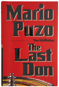 Books:Signed Editions, Mario Puzo. The Last Don. New York: Random House, 1996. First edition. Signed by Puzo on the half-title page....