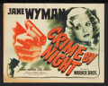 "Movie Posters:Crime, Crime by Night (Warner Brothers, 1944). Lobby Card Set of 8 (11"" X14""). Crime.. ... (Total: 8 Items)"