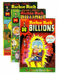 Bronze Age (1970-1979):Cartoon Character, Richie Rich Billions File Copies Group (Harvey, 1974-82) Condition:Average NM-.... (Total: 46 )