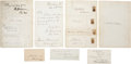 Autographs:Statesmen, Civil War Statesmen Autographs on cards, including those of severalLincoln Cabinet members, such as Attorney General Edward... (Total:7 Items)