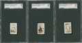 Boxing Cards:General, 1948 Topps Magic Photos Boxers-Series A SGC-Graded Trio (3)....