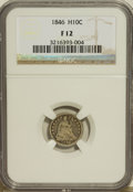 Seated Half Dimes: , 1846 H10C Fine 12 NGC. NGC Census: (1/28). PCGS Population (2/44). Mintage: 27,000. Numismedia Wsl. Price for problem free ...