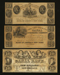 Obsoletes By State:Louisiana, New Orleans, LA- New Orleans Canal & Banking Co. $10; $10; $20. ... (Total: 3 notes)