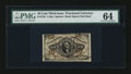 Fractional Currency:Third Issue, Fr. 1253 10c Third Issue PMG Choice Uncirculated 64....