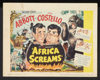 """Africa Screams (United Artists, R-1953). Title Lobby Card and Lobby Cards (3) (11"""" X 14""""). Comedy. ... (Total:..."""