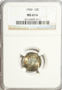 1950 10C MS 67 ★ NGC. NGC Census: (238/2). PCGS Population (101/1). Mintage: 50,181,500. Numismedia Wsl. Price for prob...
