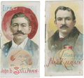 "Boxing Cards:General, 1888 N79 Duke & Sons ""Histories of Poor Boys"" Boxers Pair (2). ..."