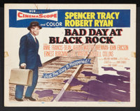 "Bad Day at Black Rock (MGM, 1955). Title Lobby Card and Lobby Cards (6) (11"" X 14""). Thriller. ... (Total: 5 I..."