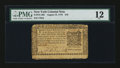 Colonial Notes:New York, New York August 13, 1776 $10 PMG Fine 12....