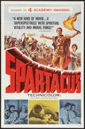 "Movie Posters:Adventure, Spartacus (Universal International, 1961). One Sheet (27"" X 41"")Academy Award Style. Adventure.. ..."