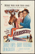 """Movie Posters:Drama, The Story of Seabiscuit (Warner Brothers, 1949). One Sheet (27"""" X41""""). Drama.. ..."""