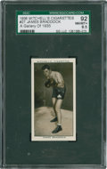 Boxing Cards:General, 1936 Mitchell's #27 James Braddock SGC 92 NM/MT+ 8.5. ...