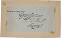 """Autographs:Military Figures, Confederate General Walter Husted Stevens Clipped Signature """"W.H. Stevens""""...."""