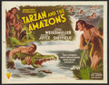 "Movie Posters:Adventure, Tarzan and the Amazons (RKO, 1945). Half Sheet (22"" X 28"").Adventure.. ..."