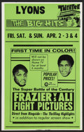 "Movie Posters:Sports, Frazier vs Ali Fight (Cinerama Releasing, 1971). Local Window Card (14"" X 22""). Sports.. ..."