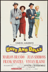 "Guys and Dolls (MGM, 1955). One Sheet (27"" X 41""). Musical"