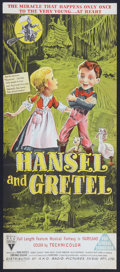 "Movie Posters:Animated, Hansel and Gretel (RKO, 1954). Australian Daybill (13"" X 30""). Animated.. ..."
