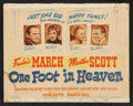 """Movie Posters:Drama, One Foot in Heaven (Warner Brothers, 1941). Lobby Card Set of 8 (11"""" X 14""""). Drama.. ... (Total: 8 Items)"""