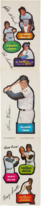 Baseball Cards:Singles (1960-1969), 1968 Topps Test Action All-Star Stickers Panel. ...