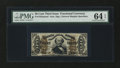 Fractional Currency:Third Issue, Fr. 1355SP 50¢ Third Issue Justice Narrow Margin Face PMG Choice Uncirculated 64 EPQ....