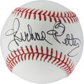 Autographs:Baseballs, Richard Petty Signed Baseball....
