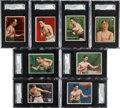 Boxing Cards:General, 1910 T218 & T219 Honest Long Cut/Hassan Boxing SGC-GradedCollection (8)....