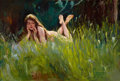 Mainstream Illustration, WILLIAM HENRY DETHLEF KOERNER (American, 1878-1938). Splendor inthe Grass, 1921. Oil on canvas. 18.5 x 27.5 in.. Signed...