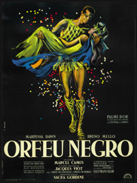 "Black Orpheus (Lux Films, 1959). French Grande (47"" X 63""). Drama"