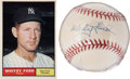 Autographs:Baseballs, Whitey Ford Signed Baseball and 1961 Topps Card.... (Total: 2items)