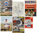 Autographs:Index Cards, New York Mets Signed Index Cards, Photographs and Magazines Lot of 31....