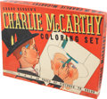 Memorabilia:Movie-Related, Charlie McCarthy Coloring Set #3927 (Whitman, 1938)....