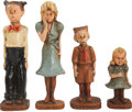 Memorabilia:Comic-Related, Blondie Family Syroco-Style Figurine Set (Multi-Products, 1945)....(Total: 4 Items)