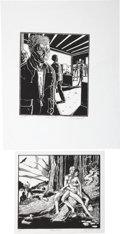 Original Comic Art:Miscellaneous, Guy Colwell Signed and Numbered Linocut Print Group (1984-2007)....(Total: 5 Items)
